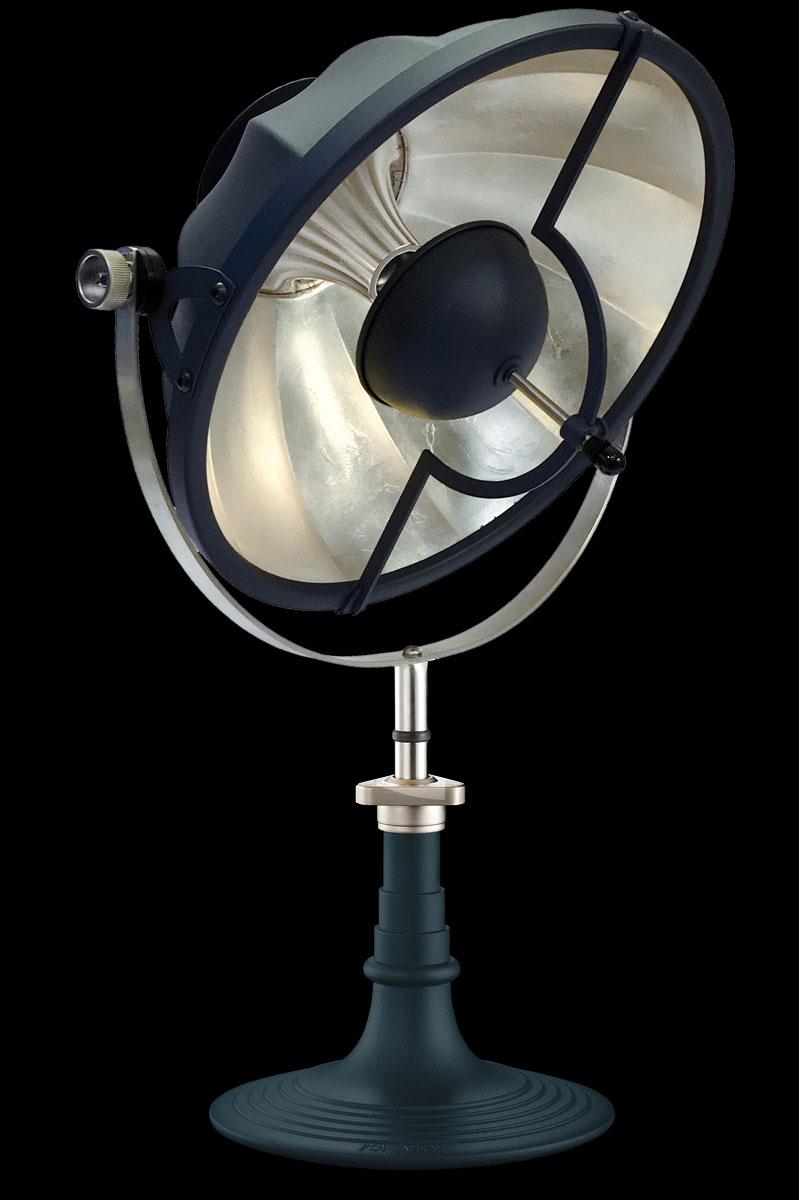Lampe de table Fortuny Armilla 41 Bleu Pastel et Feuille d'Argent