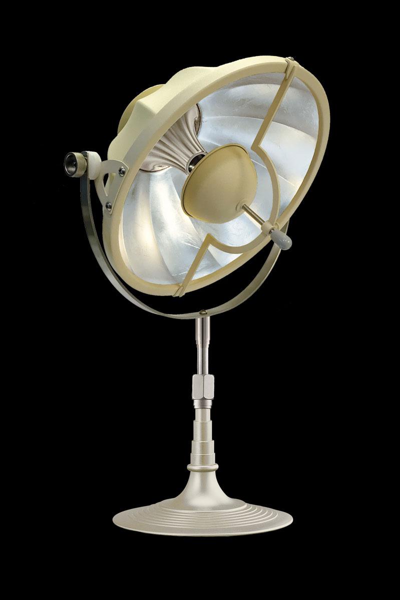 Lampe de table Fortuny Armilla 32 Quartz et Feuille d'Argent