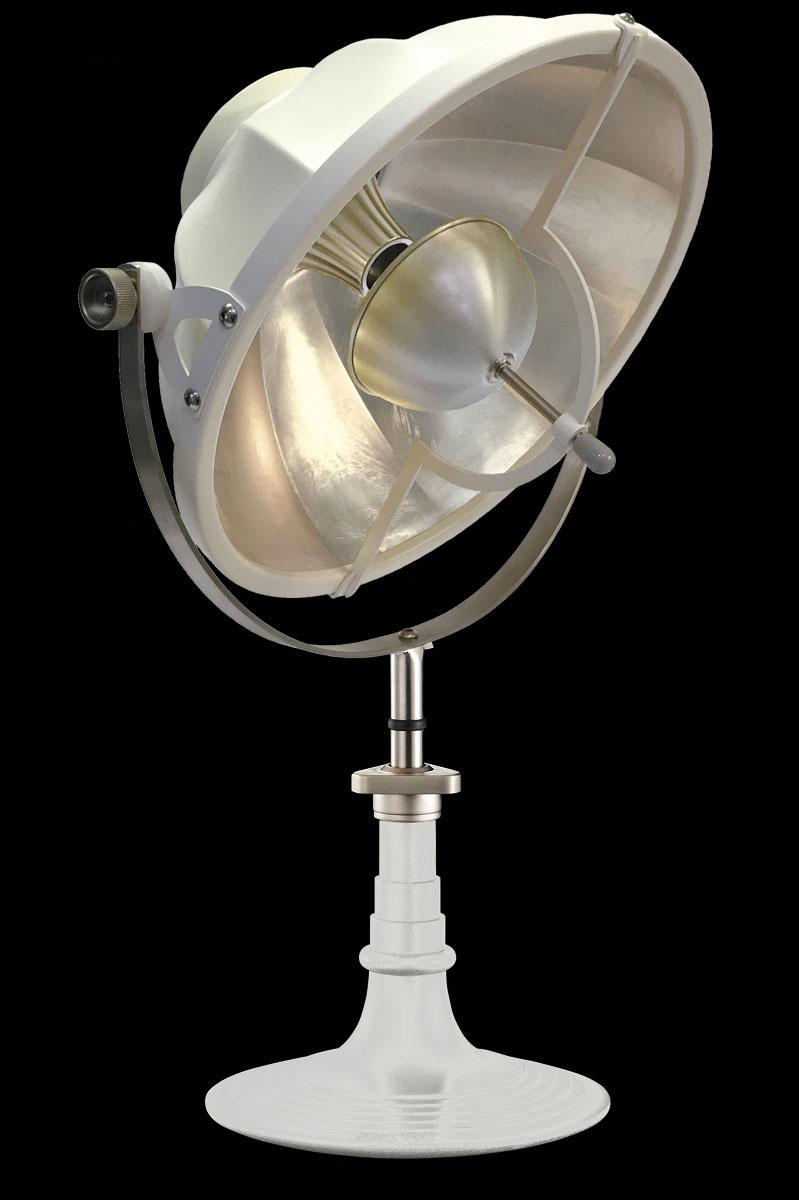Lampe de table Fortuny Armilla 41 Blanc et Feuille d'Argent