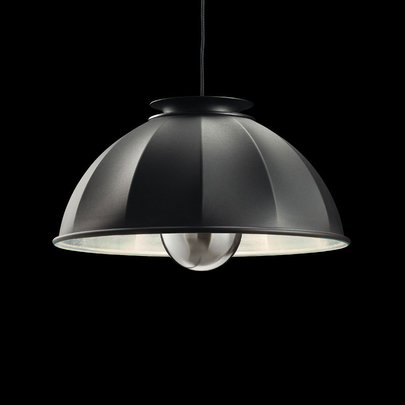 Fortuny Cupola ceiling lamp black and silver