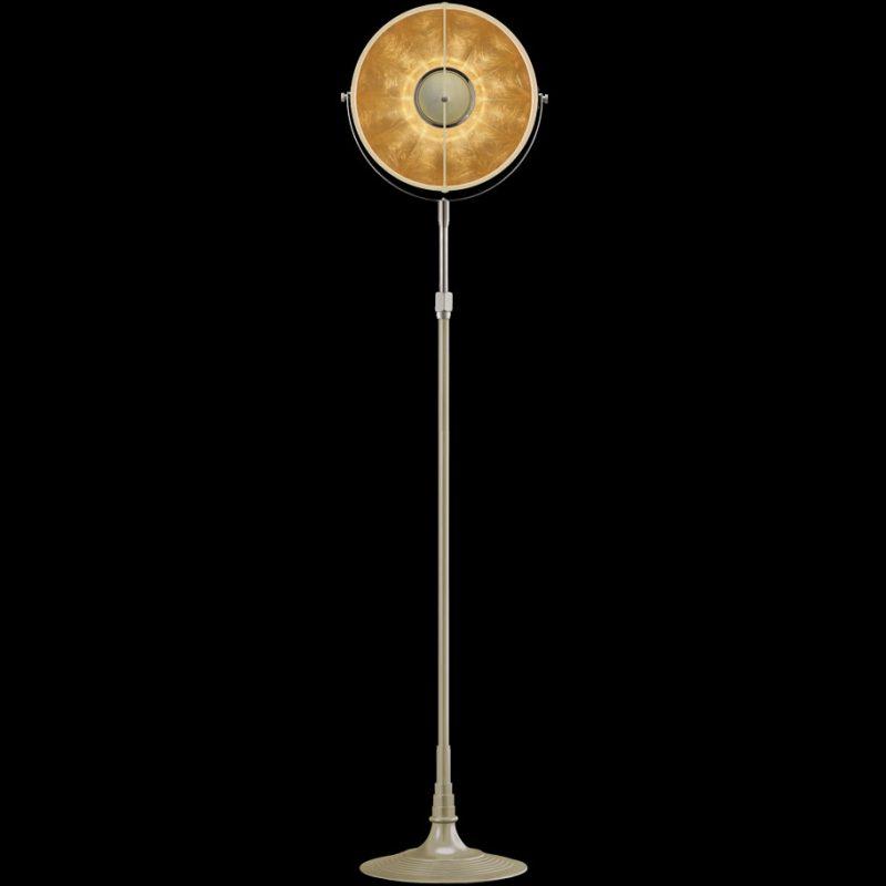 Studio 1907 Fortuny lampadaire Atelier 32 quartz et feuille d'or