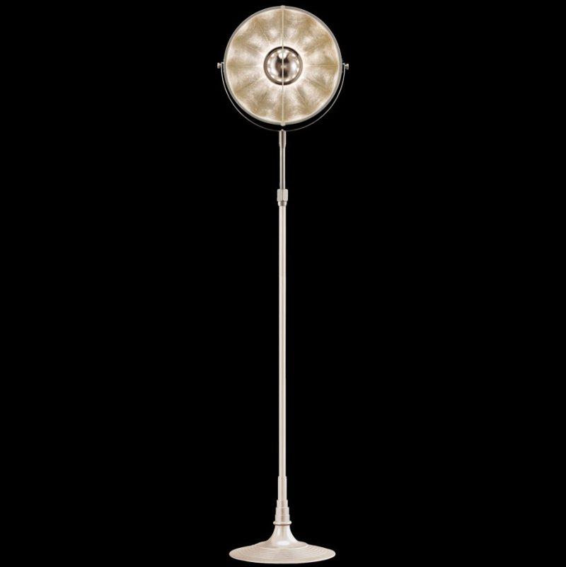 Studio 1907 Fortuny lampadaire Atelier 32 noir et feuille d'argent