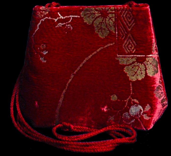 Sac Fortuny Gioia 547 en velours rouge