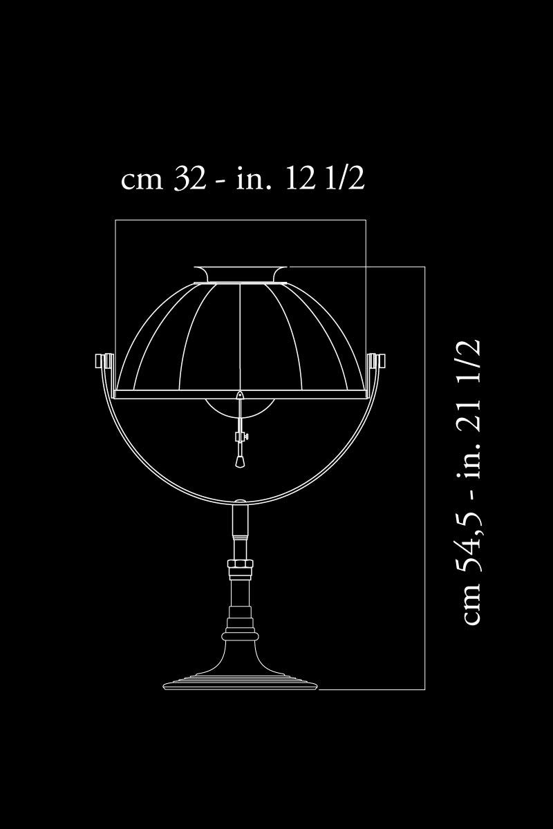 Lampe de table Fortuny Armilla 32 dimensions