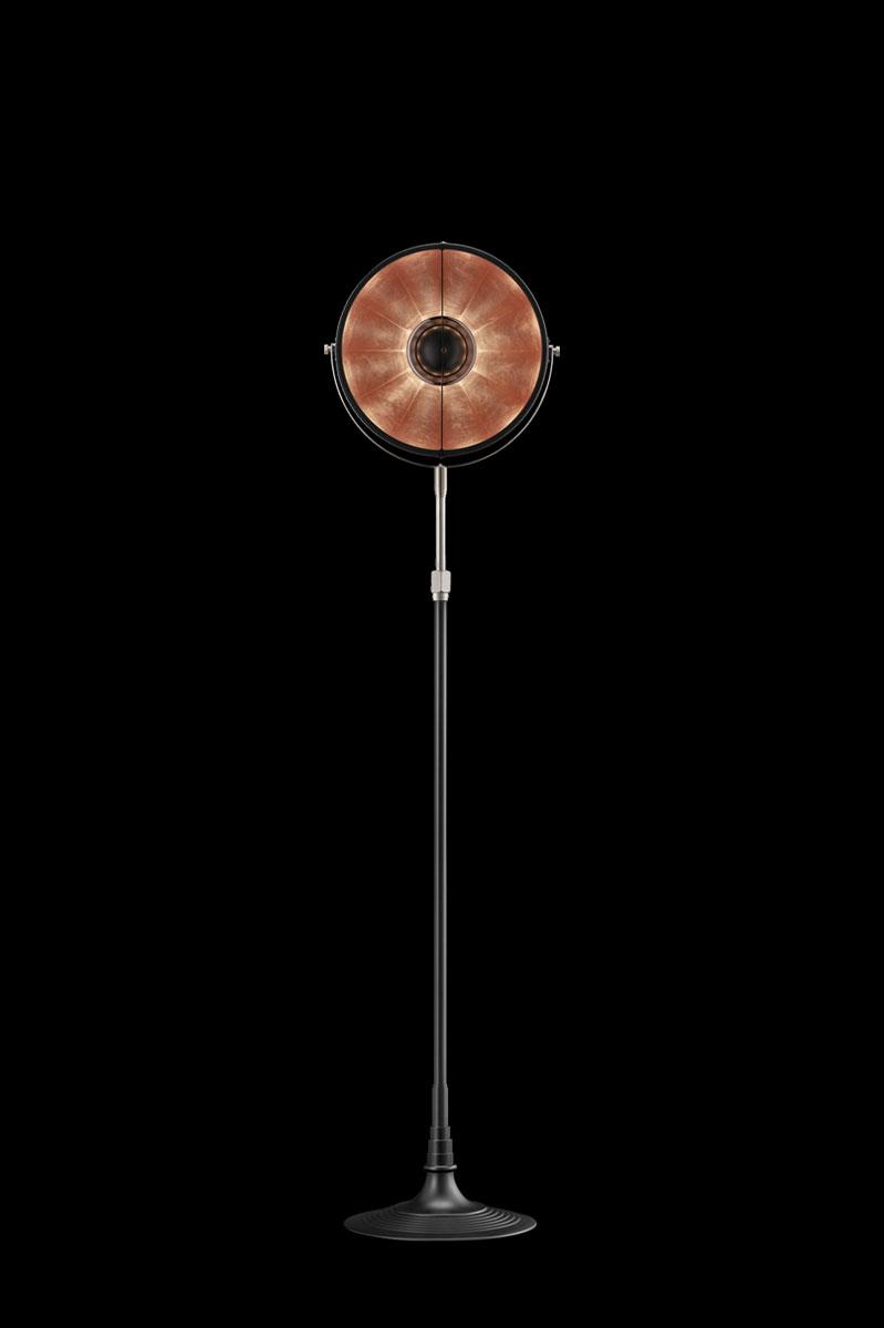 Lampadaire Fortuny Atelier 32 noir feuille de cuivre