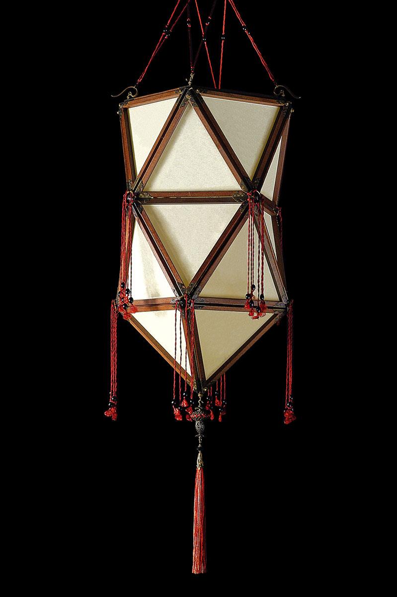 Lampe en soie unie Fortuny Concubine Favorita