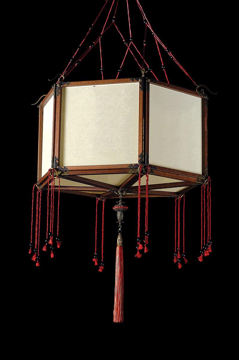 Lampe Fortuny Concubine Loto en soie unie