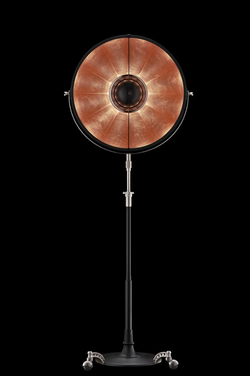 Lampadaire Fortuny Atelier 63 noir feuille de cuivre