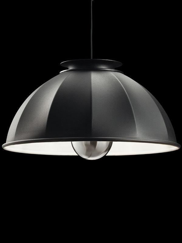 Suspension Fortuny Cupola 76 noire et blanc