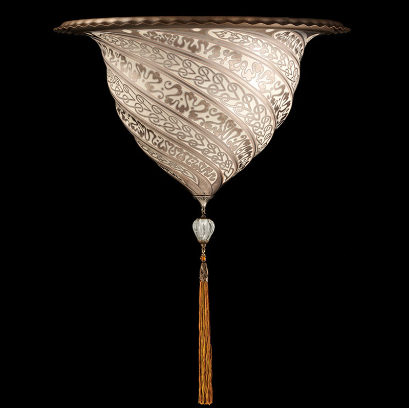 Applique Fortuny Samarkanda en verre argent