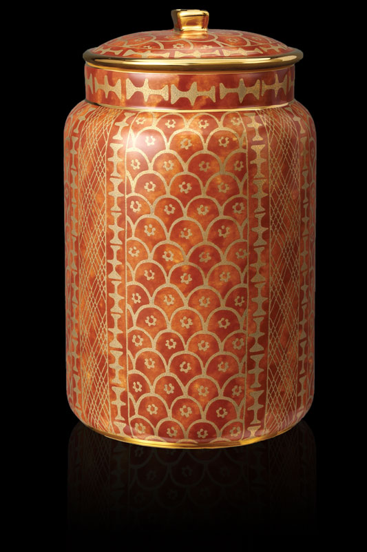 Fortuny pot couvert Ashanti orange