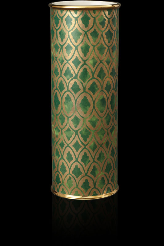 Vase grand Fortuny Peruviano vert