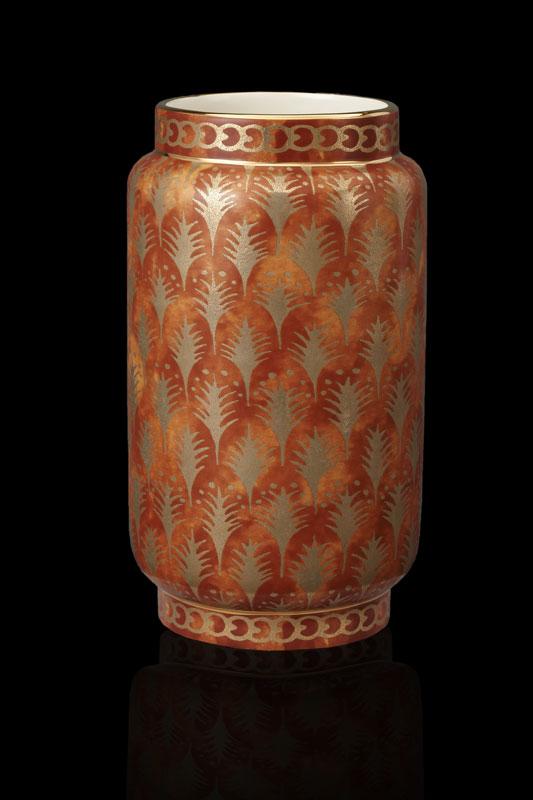 Vase moyen Fortuny Piumette orange