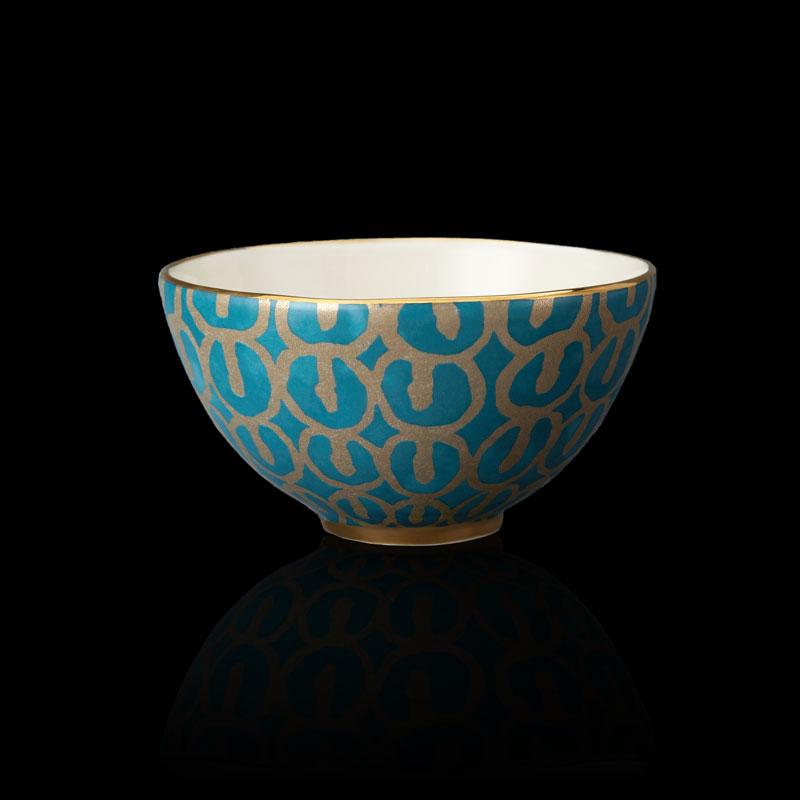 Bols de céréales Fortuny Ashanti bleu sarcelle (set de 4)
