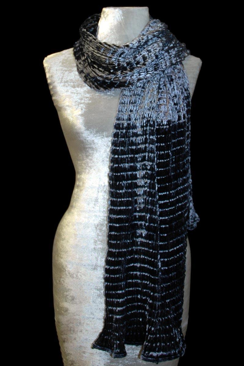 Écharpe Fortuny en velours plissé