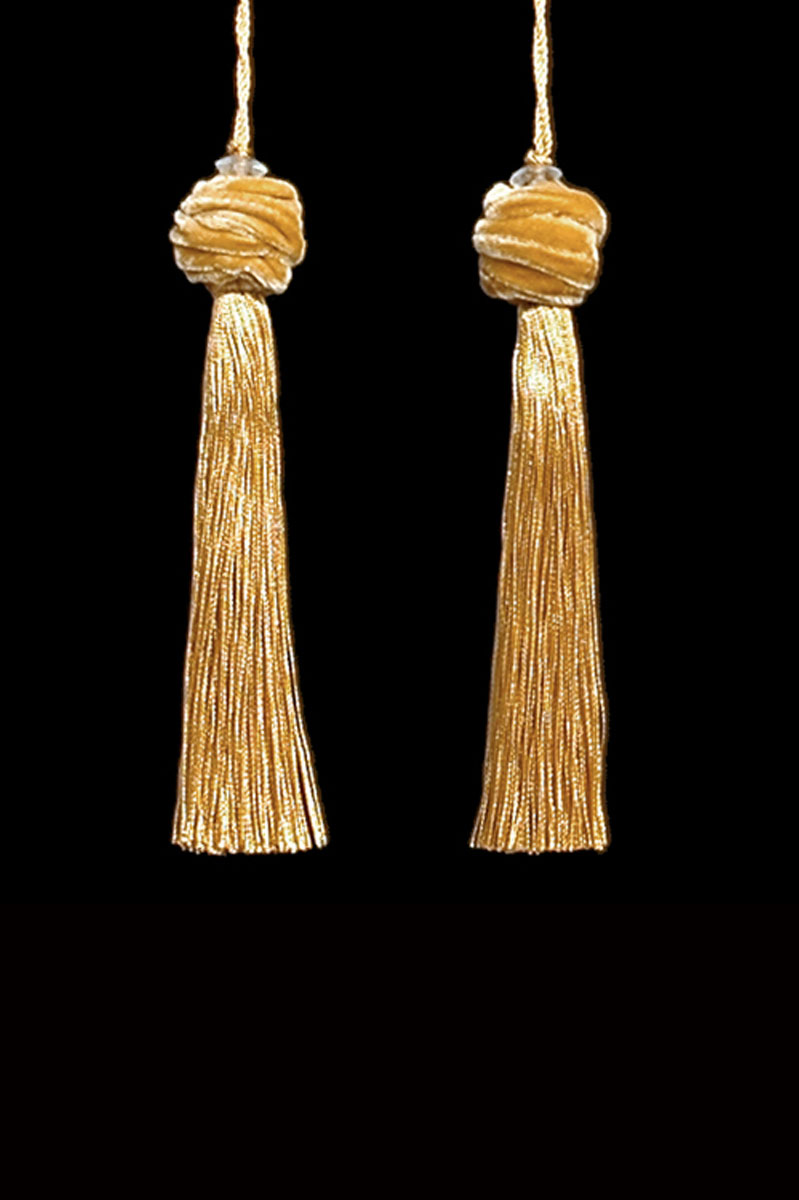 Venetia Studium Turbante couple of pale pale gold key tassels
