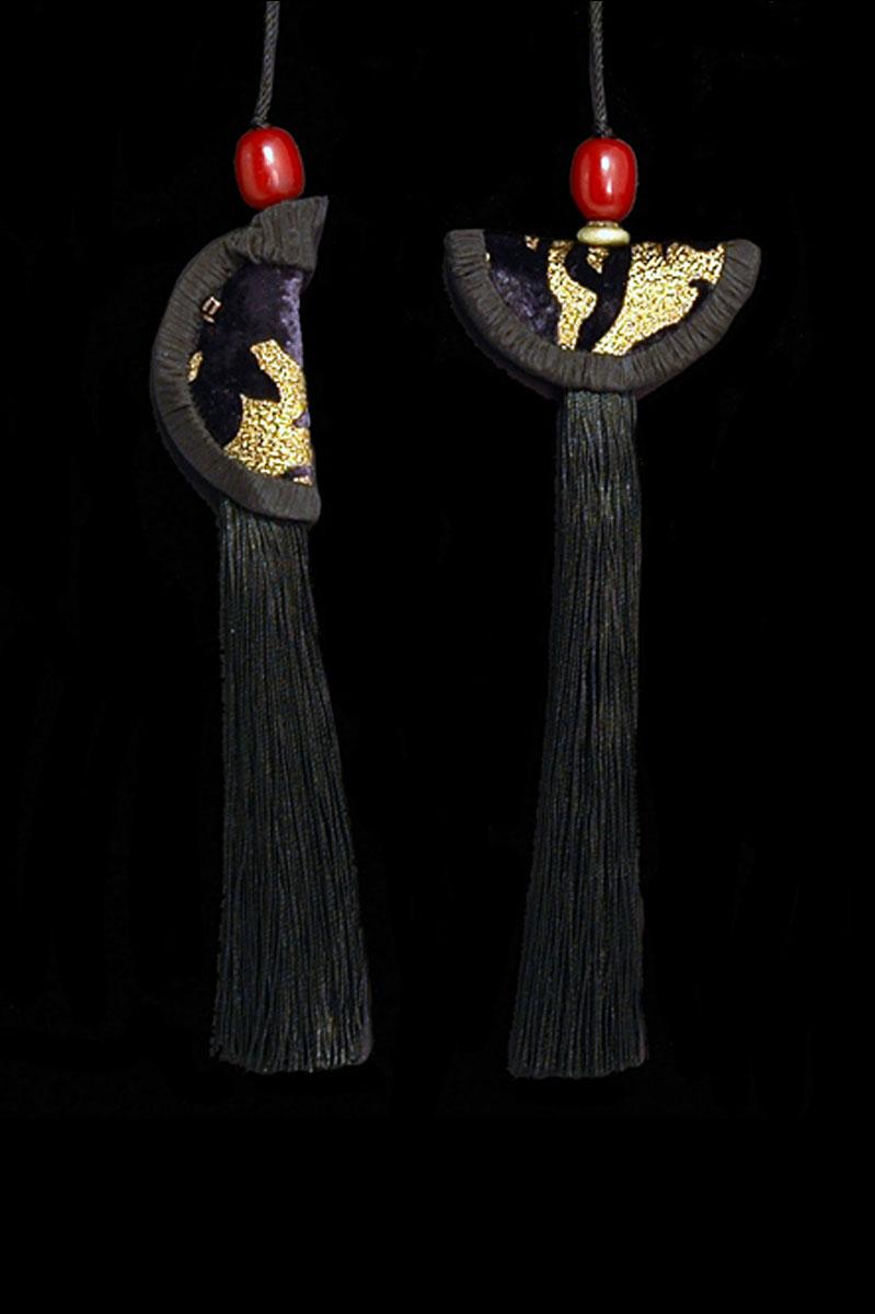 Venetia Studium couple of black  Geisha & Samurai key tassels