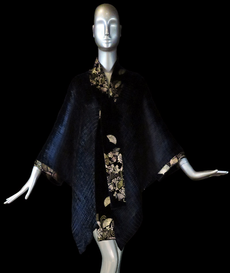 Fortuny pleated velvet cape