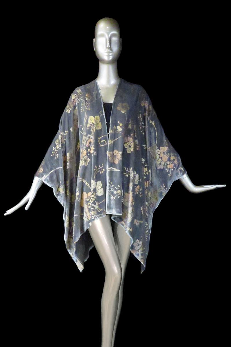Manteau du soir court Fortuny en velours imprimé