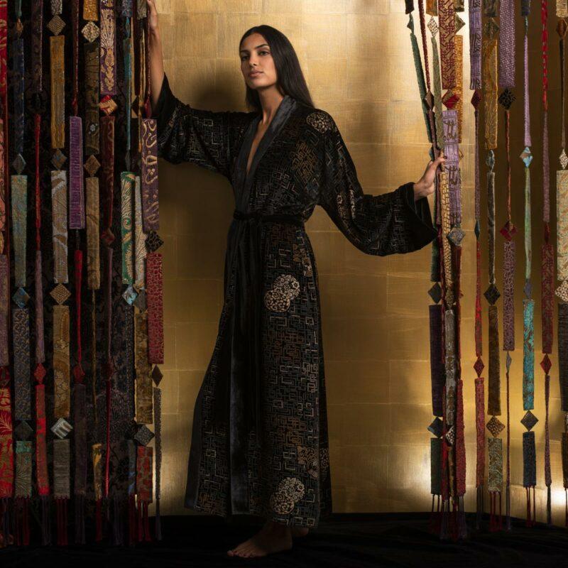 Fortuny printed velvet long kimono category