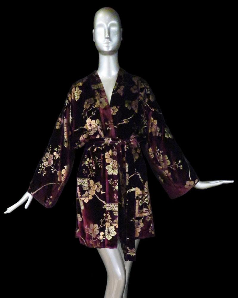 Kimono Fortuny Isabel en velours imprimé
