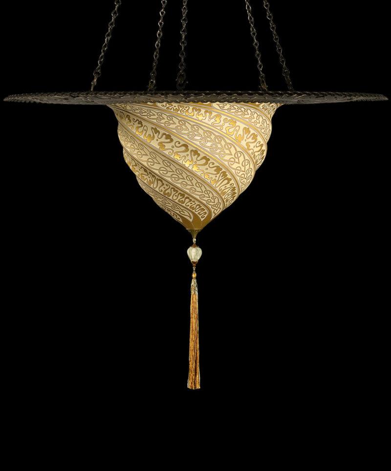 Samarkanda en verre avec anneau en métal